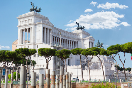 altar of fatherland: Rome.Italy. Piazza Venezia. Monument to Vittorio Emanuele ii and the altar of the Fatherland