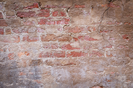 pared rota: Fondo de la textura de la vieja pared sucia roto de ladrillo rojo