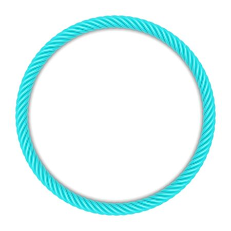spiral cord: Round frame made up ??of blue rope. 3d image