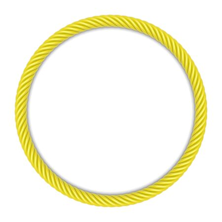 spiral cord: Round frame made up ??of yellow rope. 3d image