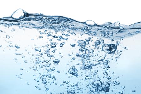 transparente: Aguas de superficie con la ondulación y la burbuja