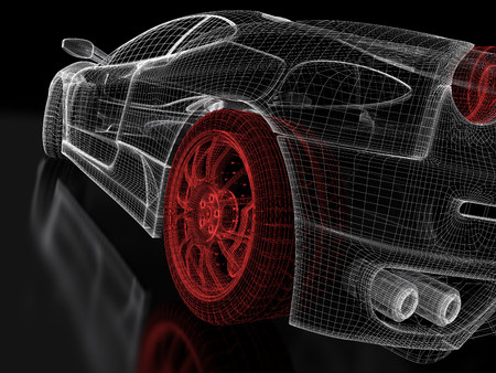 Car vehicle 3d blueprint mesh model with a red wheel tire on stock car vehicle 3d blueprint mesh model with a red wheel tire on stock photo picture and royalty free image image 94034735 malvernweather Gallery