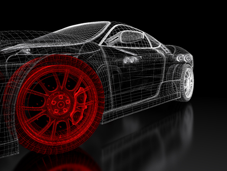 Car vehicle 3d blueprint mesh model with a red wheel tire on stock car vehicle 3d blueprint mesh model with a red wheel tire on stock photo picture and royalty free image image 94022106 malvernweather Gallery