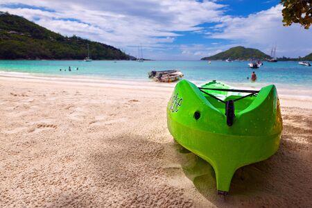 green boat: green boat Stock Photo