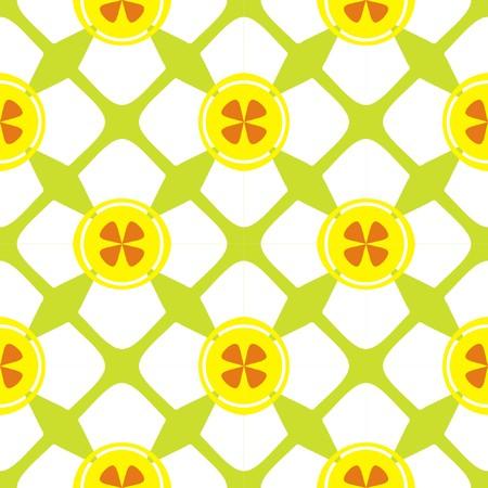 Seamless geometric flower pattern on white background 矢量图像