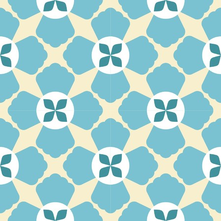Seamless geometric flower pattern on lite background 矢量图像