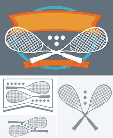 squash: Squash Rackets and ball set