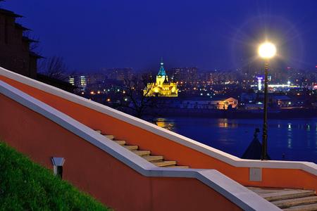 View of Nizhny Novgorod at night photo