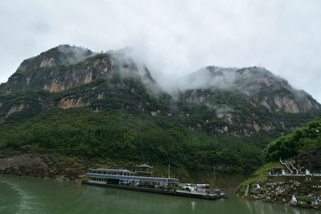 gorges: Chongqing Three Gorges scenery tour Stock Photo
