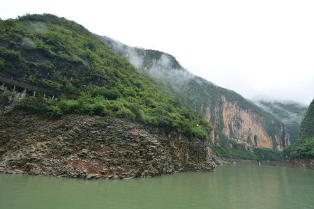 three gorges: Chongqing Three Gorges scenery tour Stock Photo