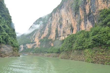 three gorges: Chongqing Three Gorges scenery tour Stock Photo