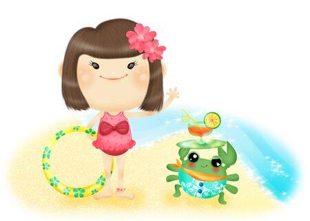 Vickys beach holiday Stock Photo