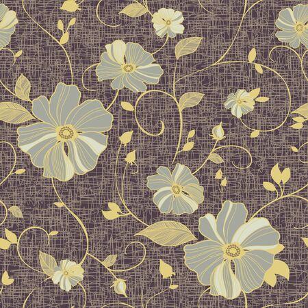 Vivid repeating floral photo