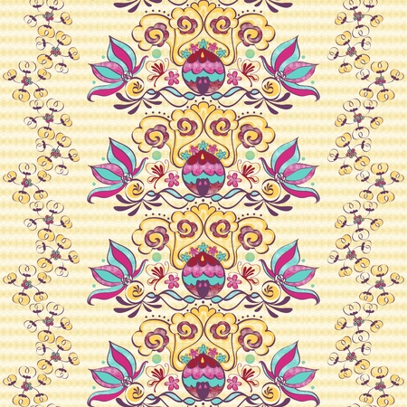 bohemia: Vivid repeating floral - For easy making seamless pattern use it for filling any contours