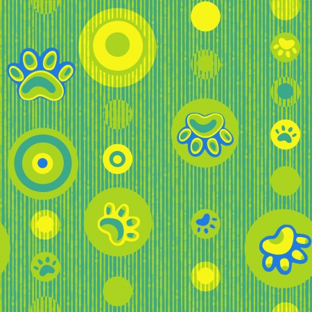 bear footprints: Vivid repeat map - For easy making seamless pattern use it for filling any contours
