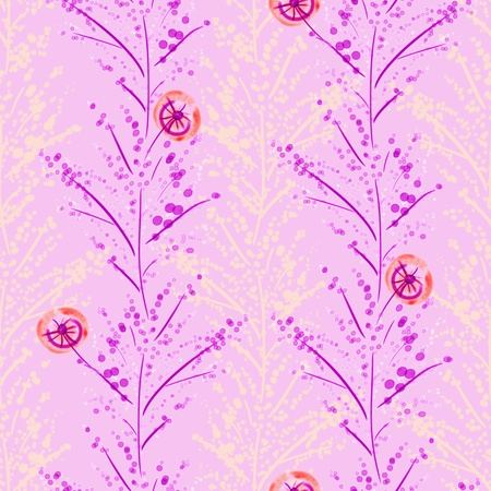 japanese motif: Vivid repeat floral - For easy making seamless pattern use it for filling any contours