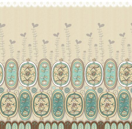 teeny: Vivid repeating floral - For easy making seamless pattern use it for filling any contours