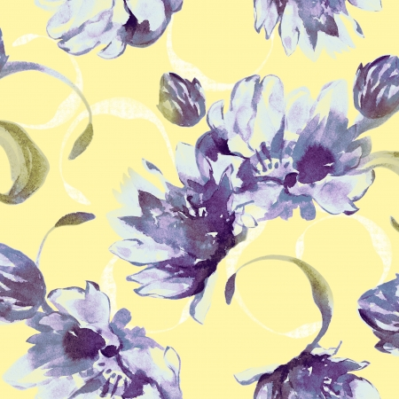 fabric: Vivid repeating floral - For easy making seamless pattern use it for filling any contours  Stock Photo
