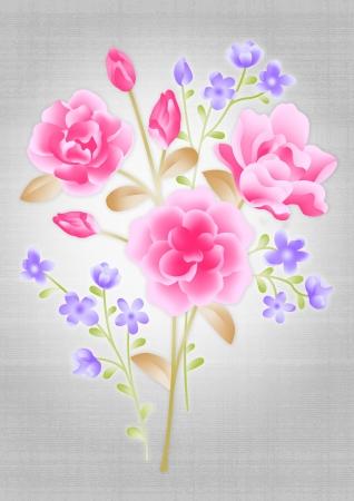 nosegay: beautiful flower bouquet design-Simple background  Stock Photo