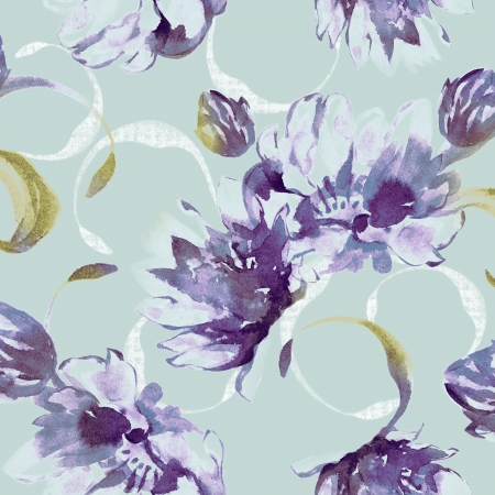 Vivid repeating floral - For easy making seamless pattern use it for filling any contours  Stock Photo