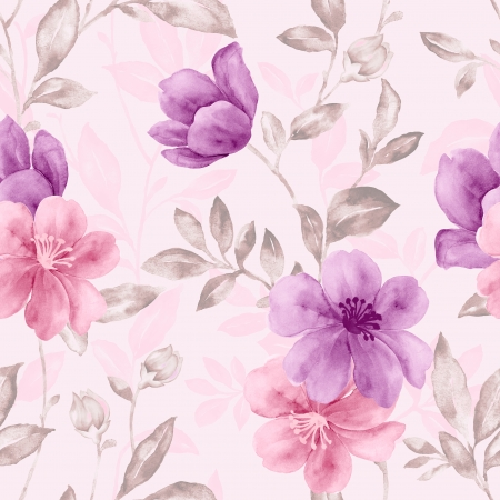 seamless damask: Vivid repeating floral - For easy making seamless pattern use it for filling any contours  Stock Photo