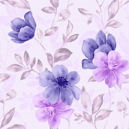 Vivid repeating floral - For easy making seamless pattern use it for filling any contours  Banco de Imagens