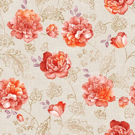 wallpaper floral: Vivid repeating floral - For easy making seamless pattern use it for filling any contours