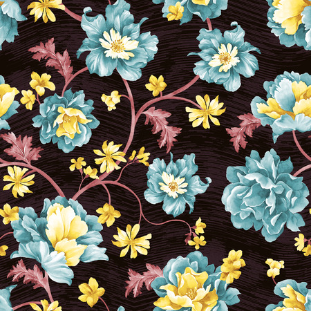 wallpaper floral: Vivid repeating map - For easy making seamless pattern use it for filling any contours Stock Photo