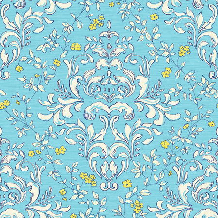 pinstripe: Vivid repeating floral - For easy making seamless pattern use it for filling any contours