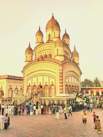 kali: Dakshineshwar Temple Kolkata Stock Photo