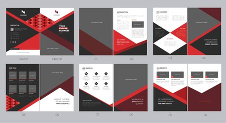 Abstract modern brochure template design with complete set Illustration