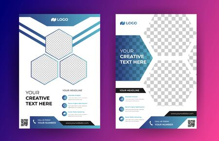 Corporate brochure design template Illustration
