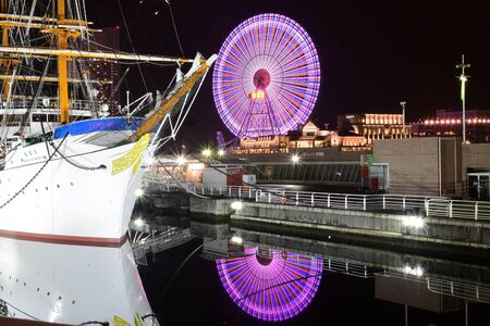 maru: Nippon Maru ship at Yokohama harbor Editorial