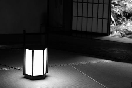 interiors: Old Edo Period Japanese Room interiors in Monochrome Stock Photo