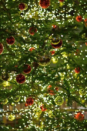 large tree: Large Illuminated Christmas Tree Background