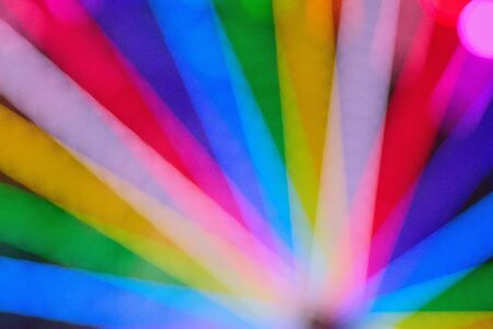 Blur texture of colorful carnival lights in horizontal frame Stock Photo