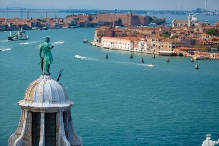 View of Venice from the island of San Giorgio Maggiore, Italy photo