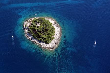 chorwacja: Wyspa Galesnik z powietrza
