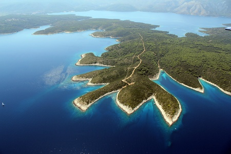 croatia: island Hvar from air
