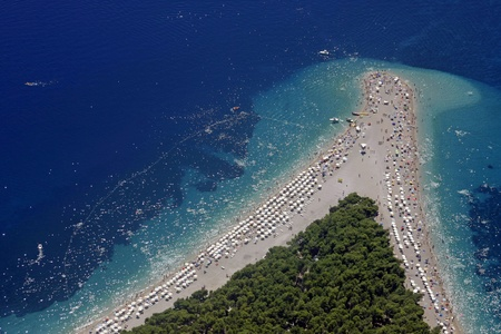 golden cape beach on island Brac, Croatia photo