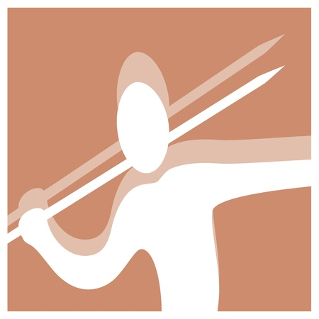 javelin throwing vector pictogram Vector