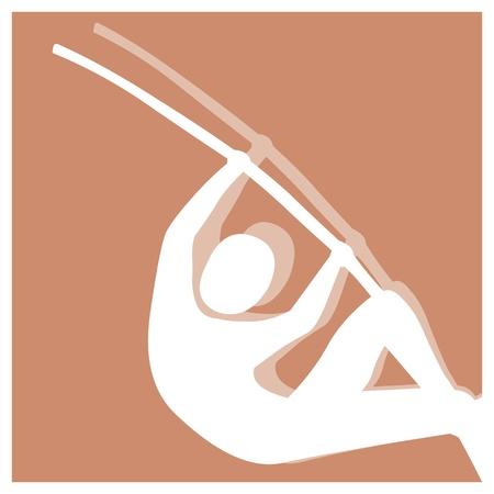 pole vault: pole vault vector pictogram Illustration