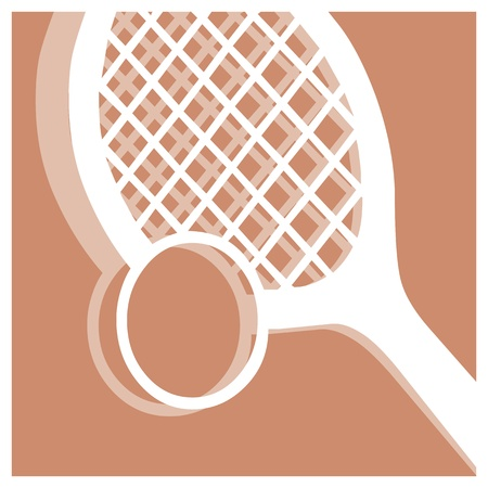 tennis serve: tennis vector pictogram Illustration