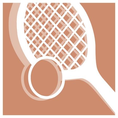 raquet: tennis vector pictogram Illustration