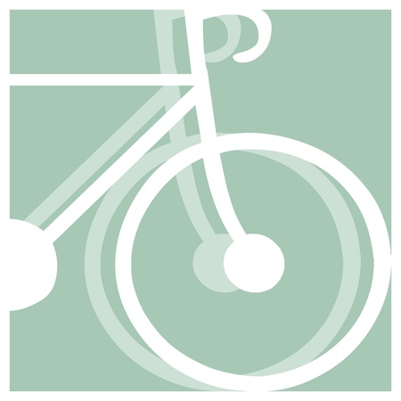 bicycling: bicycling vector pictogram