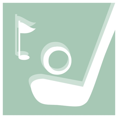 golf vector pictogram Vector