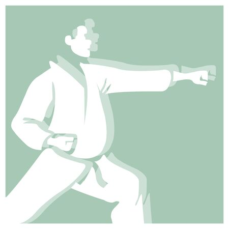 Karate vector de pictograma