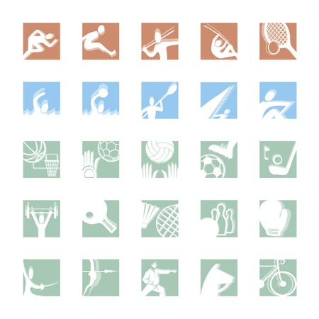 sport icon set illustrated vector pictograms in color Vector