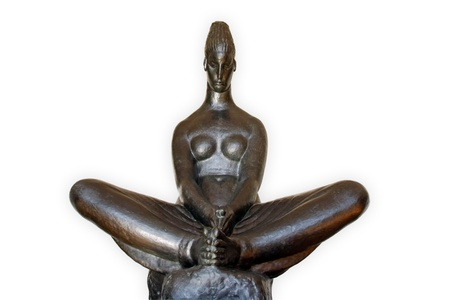 vestal: Vestal Virgin, Ivan Mestrovic bronze sculpture, 1917 Editorial