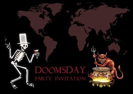 Doomsday party invitation Stock Vector - 17806978